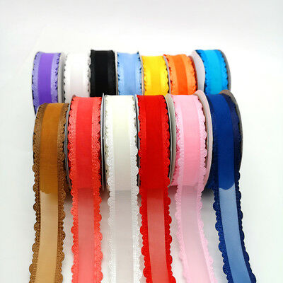 "5 yards 1""(25mm) Organza Ribbon Bowknot Clips Crafts Wedding Party Decorations 1"