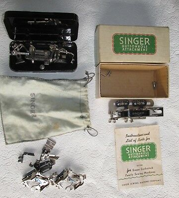 3 sets of Singer  sewing Machine  attachment parts