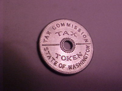 Tax Token / Tax Commission State Of Washington / Tax On Purchases 10 Cents<Less