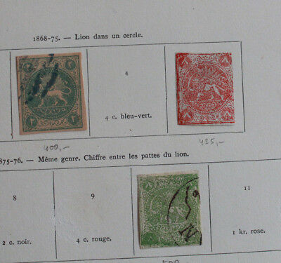 Persien, Persia: interesting old collection from the first issues