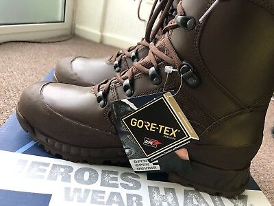 Genuine British miltary haix boots combat high liability brown leather