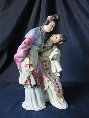 NICE OLD Chinese Porcelain Figure Ladys Republic Period Cultural Revolution