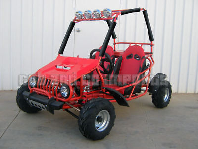 Dune Buggy 125cc Twin Seat 3 SPD + Reverse Off Road GoKart GKT125 RED