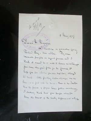 1909 The Athenaeum Headed Paper Royal Society Of Arts Letter