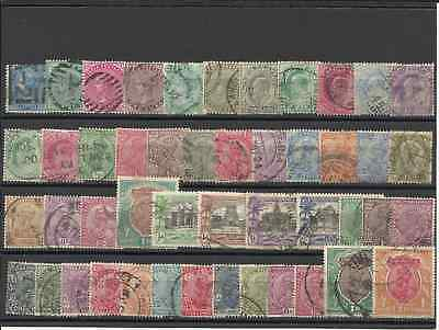 British Colonies - India. Small Lot Collection Of 47 Used Stamps.
