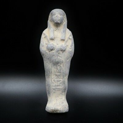 Amazing Ancient Egyptian Faience Ushabti (Shabti) Statue Figure, 1080-945 B.C