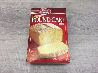 Vintage 1992 Betty Crocker Pound Cake Mix Box UNOPENED