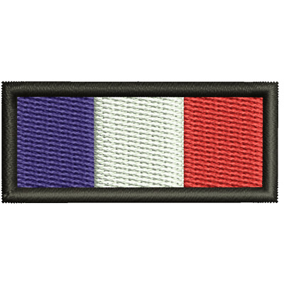 Ecusson Brodé France taille 4.5 cm sur 2 cm Ecusson Brodé France Thermocollant