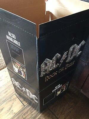 """AC / DC """"Rock Or Bust"""" Promotional Store Display Advertising Box - Mint ~L@@k!"""