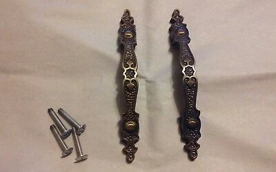 Lot of 2- Vintage Brass Drawer/Cabinet Pulls Approx. 5 1/4""