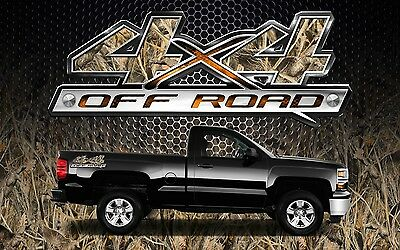 2 4x4 Off Road Truck Camouflage Camo Truck Bed Decals Stickers-BTD