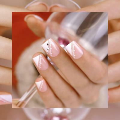 ArtPlus Faux Ongles 24pcs x 4 (4-Pack) Pink Lace Crystals Elegant Touch...