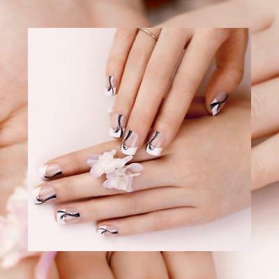 ArtPlus Faux Ongles 24pcs x 2 (2-Pack) Swirling Beauty Elegant Touch French...
