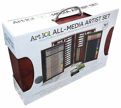 ART 101 ALL MEDIA ARTIST SET 162 PIECES Pencils Colouring Oil Acrylic Sketch