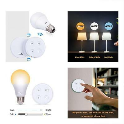 LED Bulbs Dimmable Light Bulb, A19 E26 With Remote Controller (Magnetic Base),