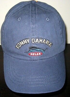 1b16971eda3 Tommy Bahama Mens Washed Marlin Logo Relax Cap Hat Navy Blue Cotton Free  Ship
