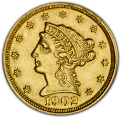 1902 $2.50 Liberty Gold Uncirculated polished, beautiful coin