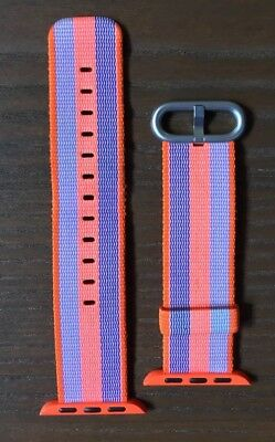 Official Apple Watch Fashion Band Stripe Blue Orange Authentic Woven Store 38mm