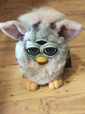 Furby Grey Pink..model 70-800 No Batteries Includes Sleepy Time Bed