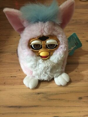 TIGER ELECTRONIC 1999 original FURBY BABY interactive ELECTRONIC TOY pink/white