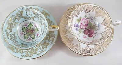 2 Cups 2 Saucers paragon by appointment to her majesty the queen  QUEEN ELIZABET