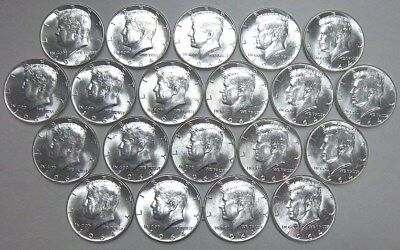 $10 Face Value 90% Silver Kennedy Half Dollars Coin Roll Lot Great Condition