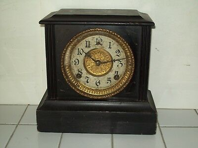 "1909 Antique ~ ""Gilbert"" Mantel / Shelf Clock ~ Working Condition ~ 109 Yrs Old"