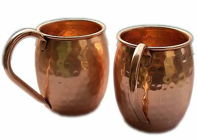 Copper Moscow Mule Mug 100% Pure Solid Copper Mugs Cups Capacity 16 Oz Unlined N