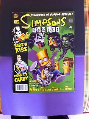 Simpsons Comics Tree House Of Horror Specials Bongo no 123 and 124 Kiss style