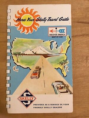 """1967 SKELLY Vintage Travel Guide """"Here's Your Skelly Travel Guide"""" pull-out maps"""
