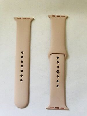 Genuine Apple Watch Sports Band 38mm Strap Pink Sand Rose Gold Pin
