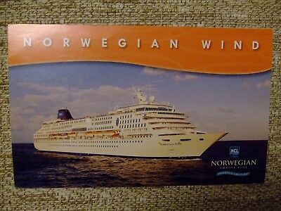 Norwegian Wind Ship Cruise Line NCL Post Card UNUSED UNPOSTED