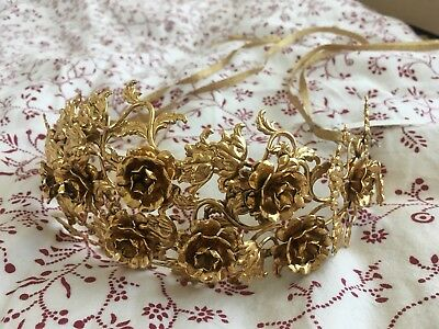 Jennifer Behr Gold Flower Headpiece