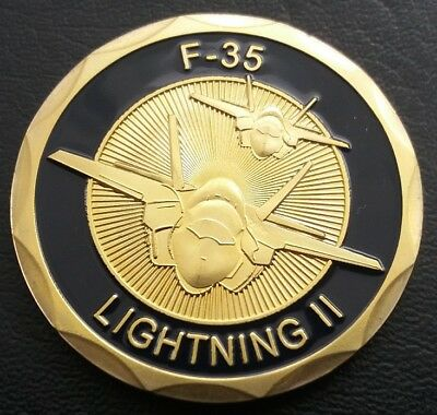 USAF F-35 LIGHTING II Challenge Coin FREE COIN STAND