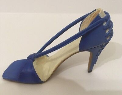 'Just The Right Shoe' Miniature Blue Shoe Figurine From the Raine Collection