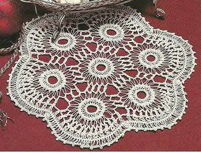 Crochet Pattern Hairpin Lace Doily Instructions 100 Picclick