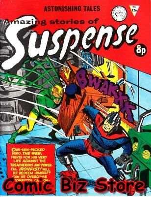 Astonishing Stories Of Suspence #126 (1972) 1St Print Uk Silver Age Alan Class