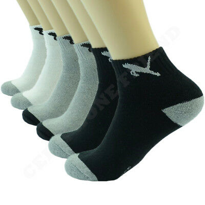 Tiger 3 6 12 Pairs Mens Sports Athletic Work Crew Cotton Socks Casual Size 10-13