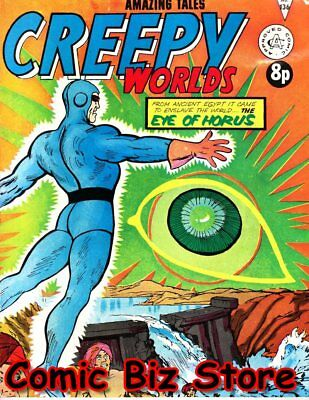 Creepy Worlds #136 (1972) 1St Printing Uk Bronze Age Alan Class Blue Beetle #54