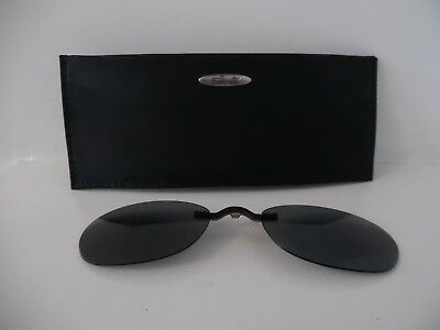 Silhouette Clip On with Grey Lenses and Soft Case Model: 6460