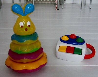 Jouet LOT 2 Jeux LAPIN MALIN MUSICAL & LUMINEUX + PIANO CHICCO Eveil Premier âge