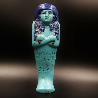 Fine Ancient Egyptian Faience Ushabti (Shabti) Statue Figure,30th Dynasty 381 BC