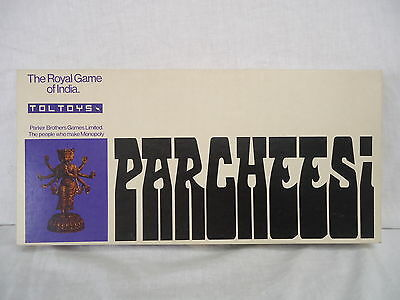PARCHEESI The Royal Game of India PARKER/TOLTOYS Retro 1970's COMPLETE #4528