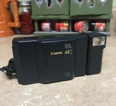 Vintage Canon MC Auto Focus Point and Shoot 35mm Camera - Rare