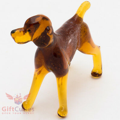 Art Blown Glass Figurine of the German Shorthaired Pointer dog