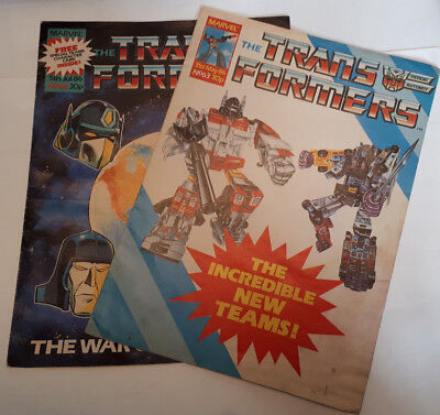 Vintage MARVEL Comic THE TRANSFORMERS UK Version #63 & #68 (May & July 1986)