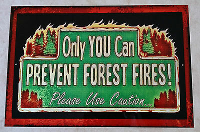 *please Only You* Metal Sign U S Forest Service Rustic National Park Smokey Bear