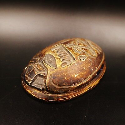 Rare Ancient Egyptian Stone Scarab Beetle Amulet Figurine, 1750-1570 BC.
