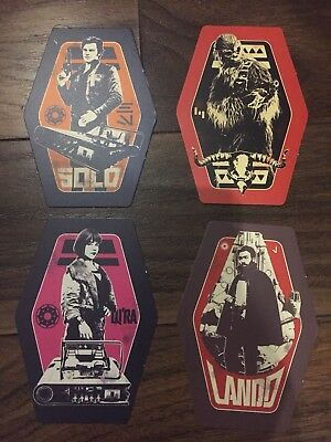 Set of four exclusive GENUINE ! Odeon promo cards from Solo: A Star Wars Story.