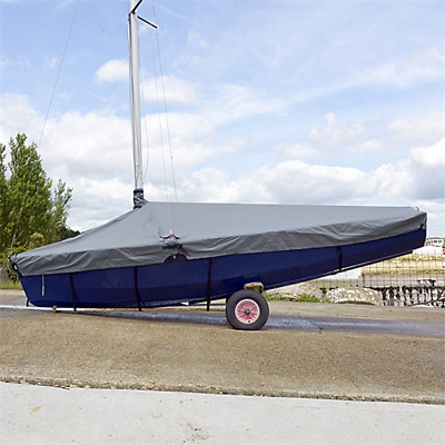 Enterprise Dinghy Sail Boat Deck Cover - Tailored - Overboom - Grey (126G)